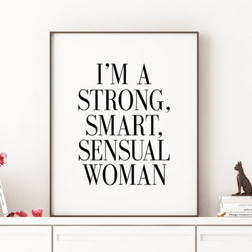 "Tina Belcher Quote ""Strong, Smart, Sensual Woman"" Print Bob's Burgers Printable Art Instant Download  Home Decor Wall Decor INSPIRATIONAL"