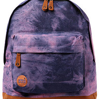 The Denim Dye Backpack in Purple