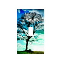 Tree of life Blue Green Light Switch Cover