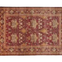 """9'x12'5"""" Art & Craft Knotted Rug, Red, Area Rugs"""