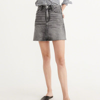Womens High-Rise Denim Mini Skirt | Womens Bottoms | Abercrombie.com