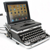 USB Typewriter Computer Keyboard -- Royal Deluxe with Chrome Accents