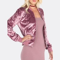 Solid Color Long-Sleeved Velvet Cardigan Jacket