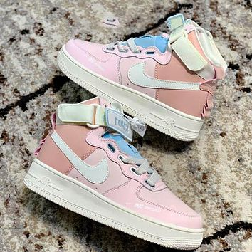 Air Force 1 Nike AF1 cherry blossom pink macaron mandarin duck functional sneakers pink