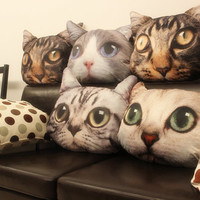 Cat Pillow, Decorative Throw Pillows Decor, Cat Cushion-New Year & Love Gifts for Her, Valentine's Day Cat Pillow Cover, Home Decor-Cushion