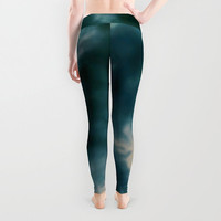 Lady's leggings Active wear Casual wear Stretchable leggings Pattern of nature From dark to light