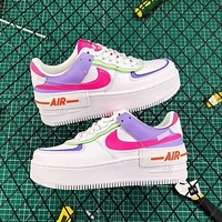 Nike Air Force 1 Shadow Women's Color Block Platform Casual Shoes