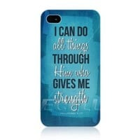 Head Case Designs Strength Christian Inspired Protective Back Case Cover for Apple iPhone 4 4S