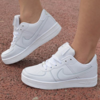 NIKE Women Men Running Sport Casual Shoes Sneakers Air force White