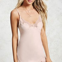 Satin Lace Slip