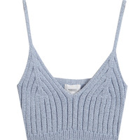 Spaghetti Strap Knit Bralet Cropped Top