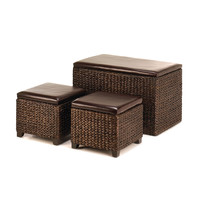 Storage Chest And Ottomans Set