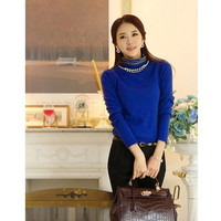 The wool sweater knitted shirt = 1920075204