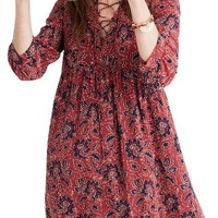 Madewell Silk Babydoll Dress | Nordstrom