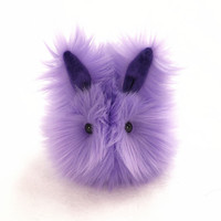 Pansy the Lavender Bunny Faux Fur Stuffed Toy Plushie - Small Size