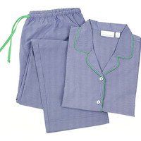 York Long Sleeve Pajamas, Navy/Green, Pajamas