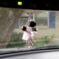 Rhinestone Car Charm, Car Accessory, Rearview Mirror Charm, Rearview Car Accessory, Rhinestone Keychain, Beaded Car Charm, Crystal Car Charm