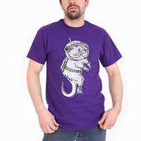 Otter Space Purple  //  t-shirt // mens small