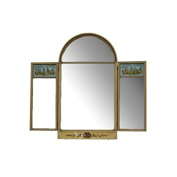 Pre-owned Revival Style Three Paneled Mirror