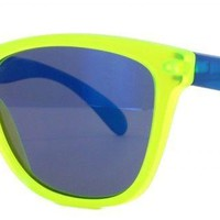 Oakley FROGSKINS Limited Edition BlackLight Yellow w/Blue Iridium 24-289