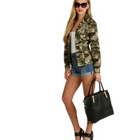 Olive Army Girl Anorak