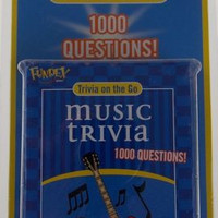 Fundex Music Trivia on the Go Game 1000 Questions 50 Cards Auto Travel Free Ship