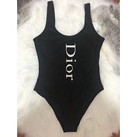DIOR Beachwear One Piece Bikini Swimsuit Bodysuit