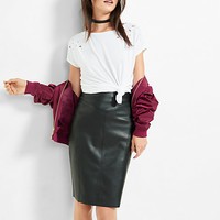 (minus the) leather pencil skirt