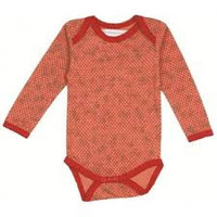 Ideo Peach Floral Organic Long Sleeve Onesuit