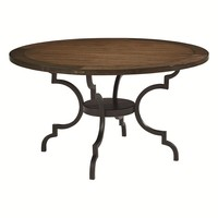 Magnolia Home French Inspired Breakfast Table with Wood Top and Jo's Black Base