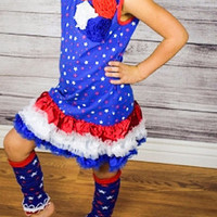Red White and Blue Stars Dress