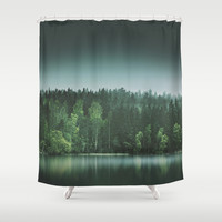Echoes III Shower Curtain by HappyMelvin