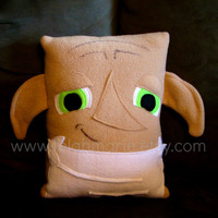 Dobby pillow, inspired by, Harry Potter, plush