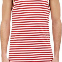 The Red and White Striped Tank