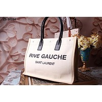 YSL SAINT LAURENT WOMEN'S NEW STYLE CANVAS RIVE GAUCHE TOTE BAG