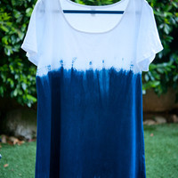 Shibori Dip Dyed A-Line Summer Dress