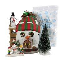 Dept 56 Buildings North Pole, Building Christmas Cheer North Pole Holiday Gift Set/4 - 6007264