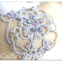 Lace tatted silver 'Tat-too' bracelet, original design