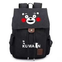 Anime Backpack School Kumamon Cute Bear Unisex Bookbag Canvas Backpacks Shoulder Bag Cos kawaii cute Travel Bag SchoolBag AT_60_4
