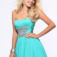Sherri Hill Short Dress 1595 at Peaches Boutique