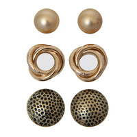 Scalloped Helena Infinity Earring Set
