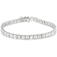 Hazel Princess CZ Tennis Bracelet – 7.25in | 20ct