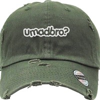 YOU MAD BRO Distressed Baseball Hat