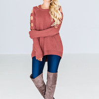 The Perfect Moment Sweater - Mauve