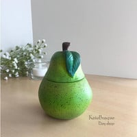 Ceramic Pear Sugar Bowl