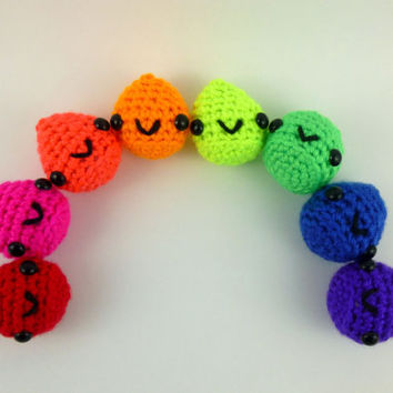 Choose Your Own Slime Droplet - Neons - Ready to Ship- Crocheted Plushie
