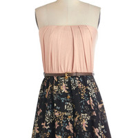 ModCloth Short Strapless A-line Flight on the Town Dress
