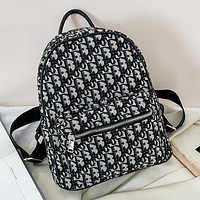Dior classic retro printed letters ladies exquisite backpack school bag