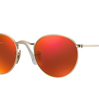 Look who's looking at this new Ray-Ban Round Flash Lenses