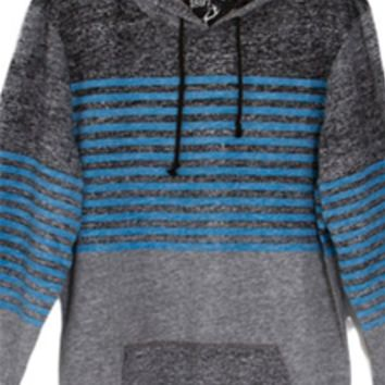 1897 Hooded Long Sleeve Knit Striped T-Shirt for Men KSH4285M-GK